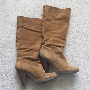Kors Michael Kors suede slouch boots